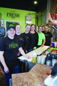 Jeni Betts and Hassan Atarmal opened Fresh Mediterranean Express in Waukee with three employees. In 18 months, the restaurant has grown to seven employees. Photo by Melissa Walker